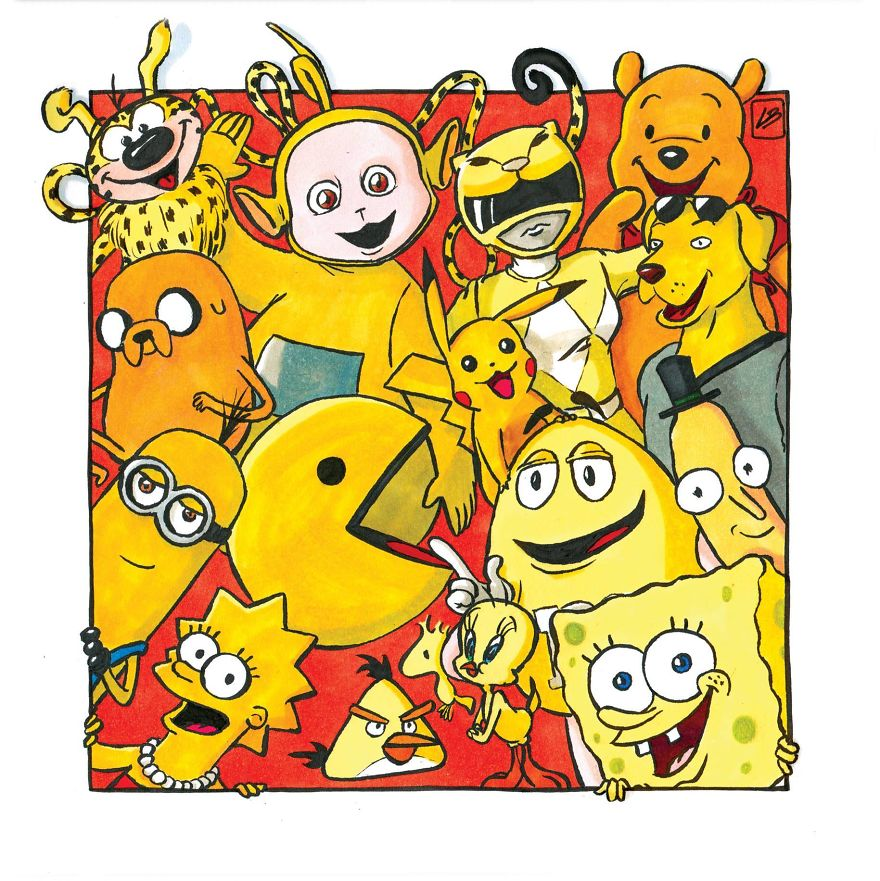 желтые персонажи мультиков