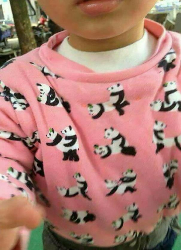 смешная кофта с пандами