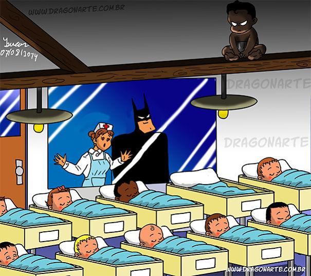 ребенок бэтмена в роддоме