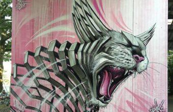 граффити с кошкой
