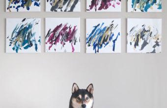 пес нарисовал картины