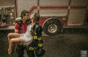 фото свадьбы пожарного