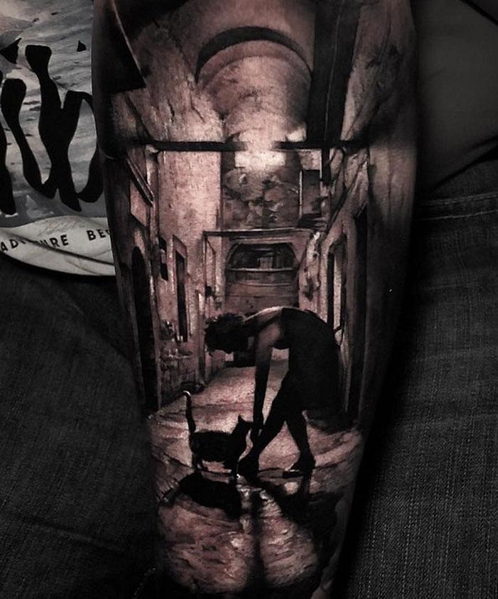 масштабная татуировка картина