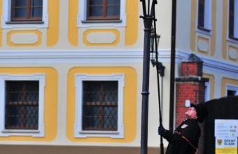 газовый фонарь в Варшаве