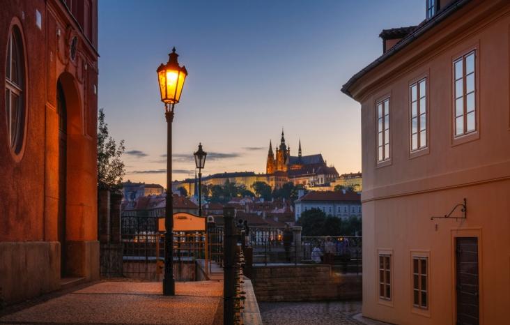 газовый фонарь в Праге