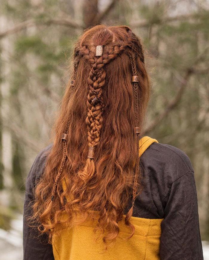 косы в стиле викингов