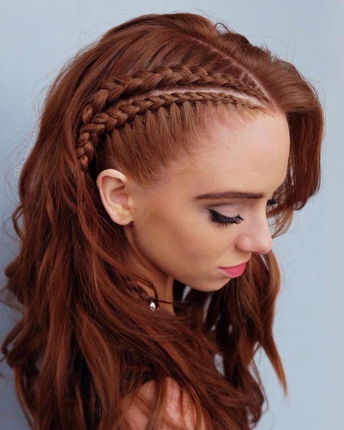 стиль викингов волосы