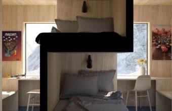 необычная детская спальня