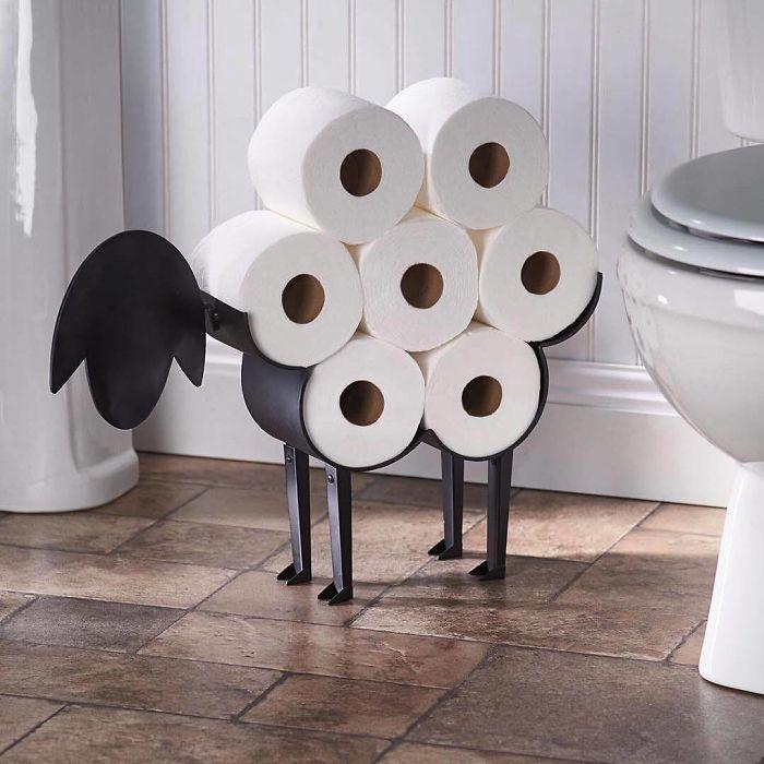 интересная подставка под туалетную бумагу