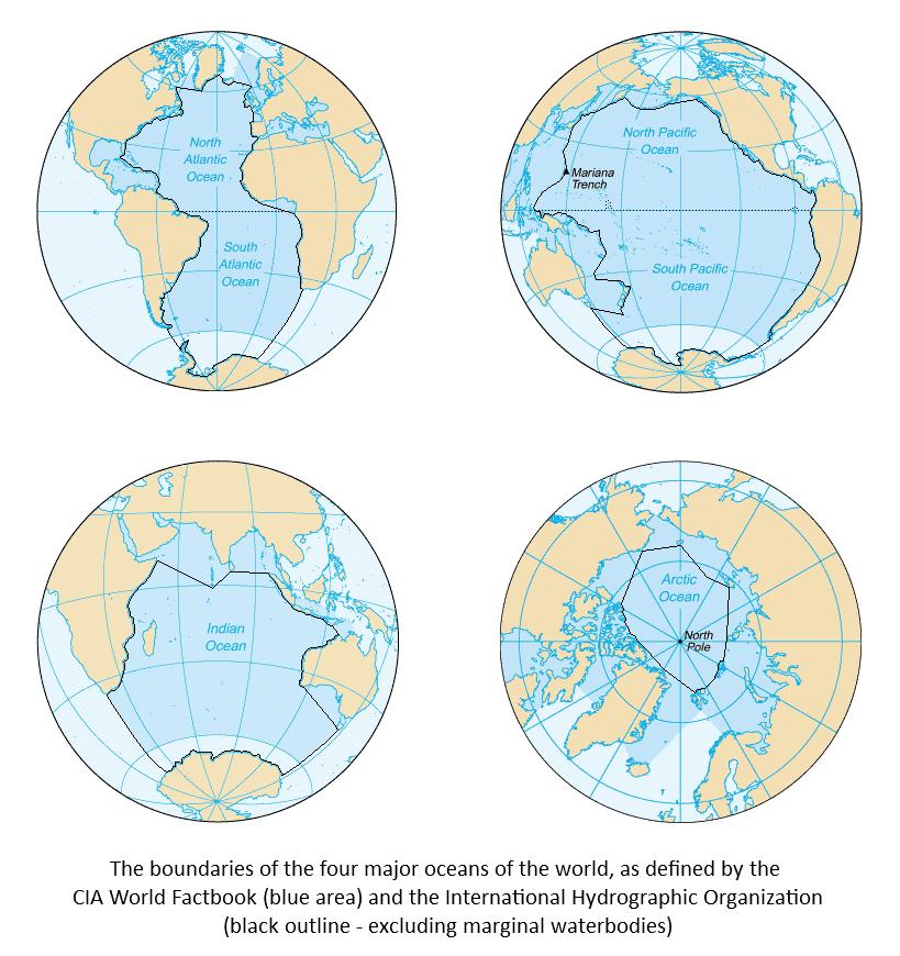 границы мировых океанов