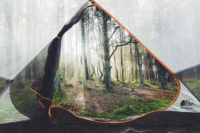 необычное фото из палатки