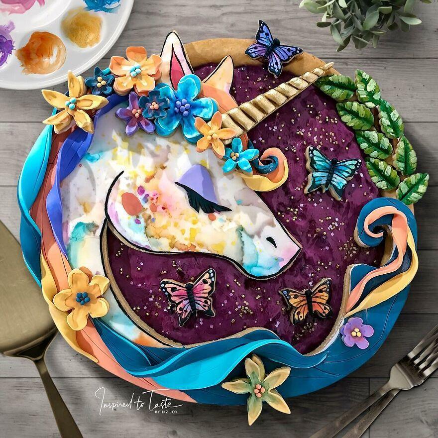 необычные пироги единорог