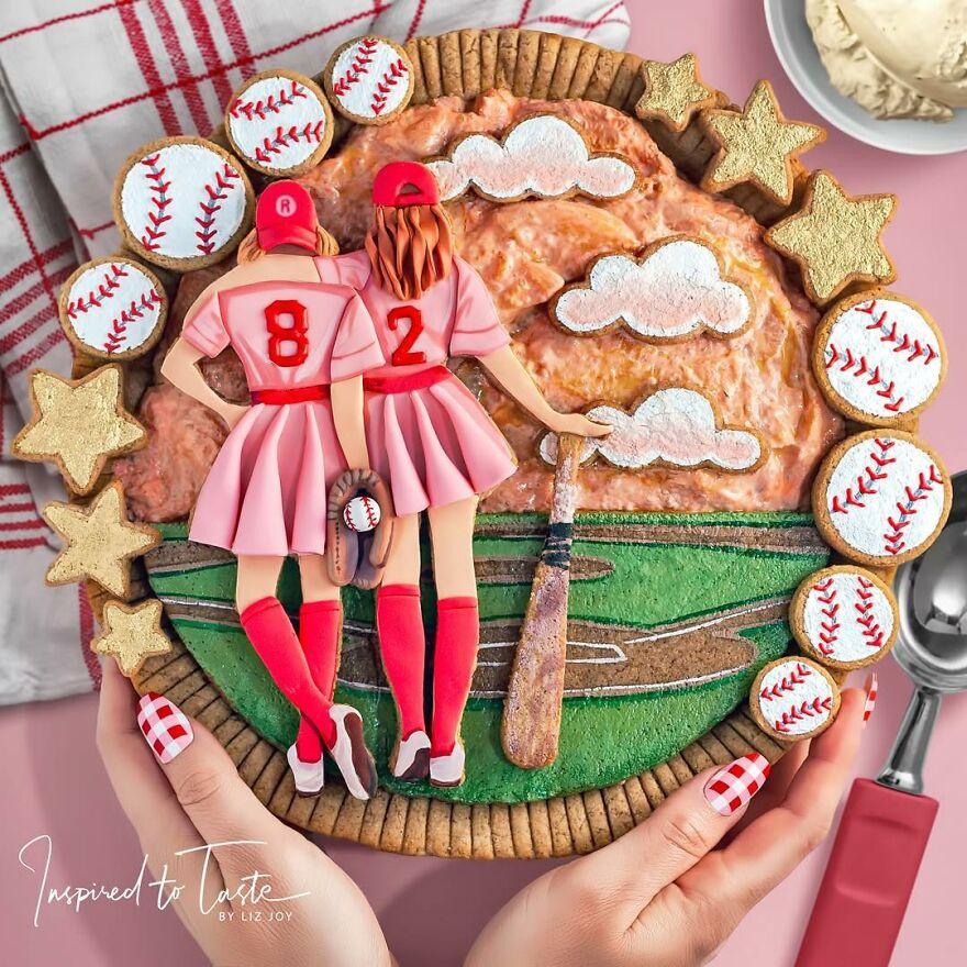 забавный пирог с девчонками