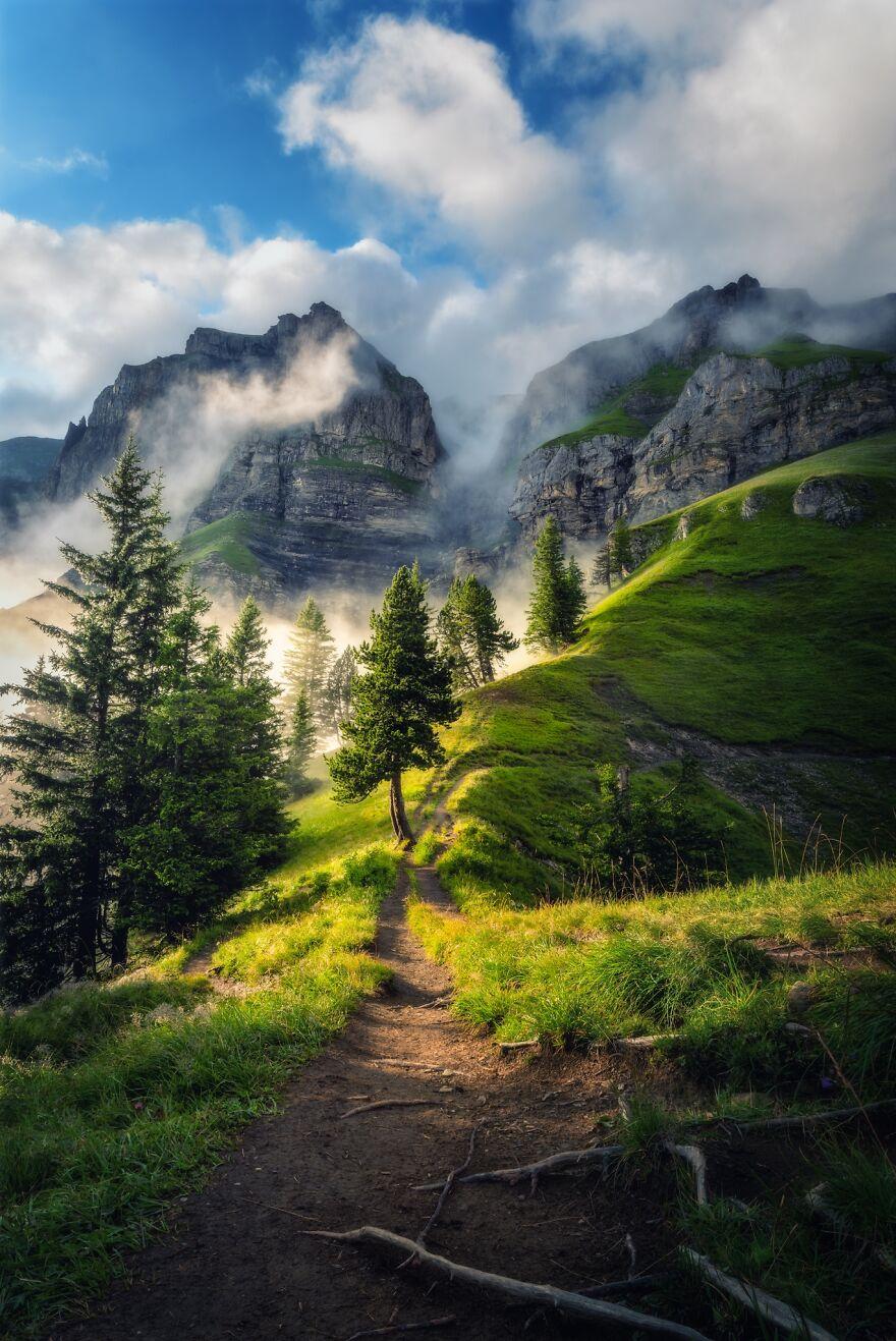 фото тумана и гор