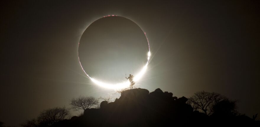 необычное фото затмения