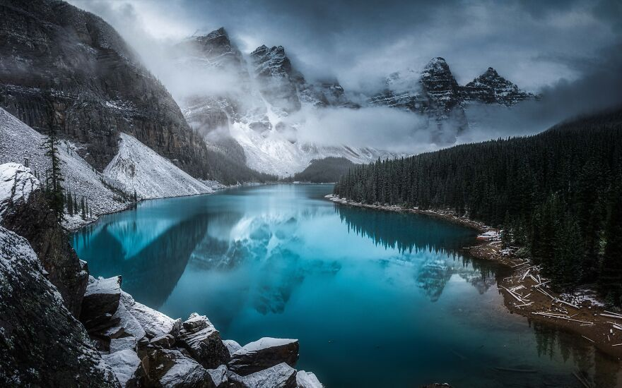 озеро Морейн фото