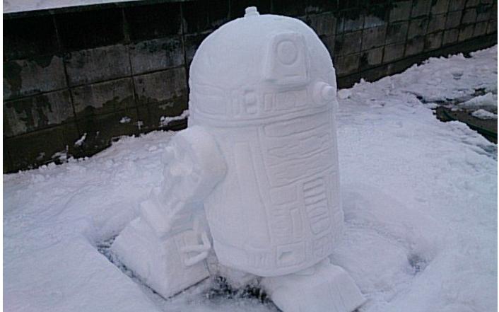 r2d2 снеговик фото