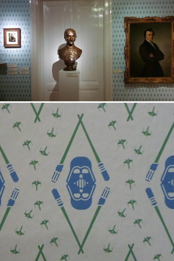 необычные обои в музее