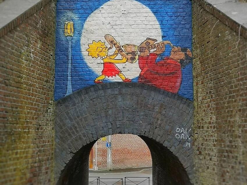 граффити с симпсонами