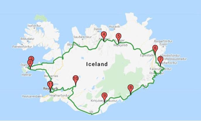 кольцевая дорога исландия