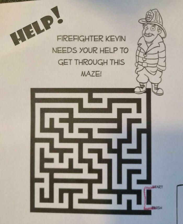 лабиринт помоги пожарному