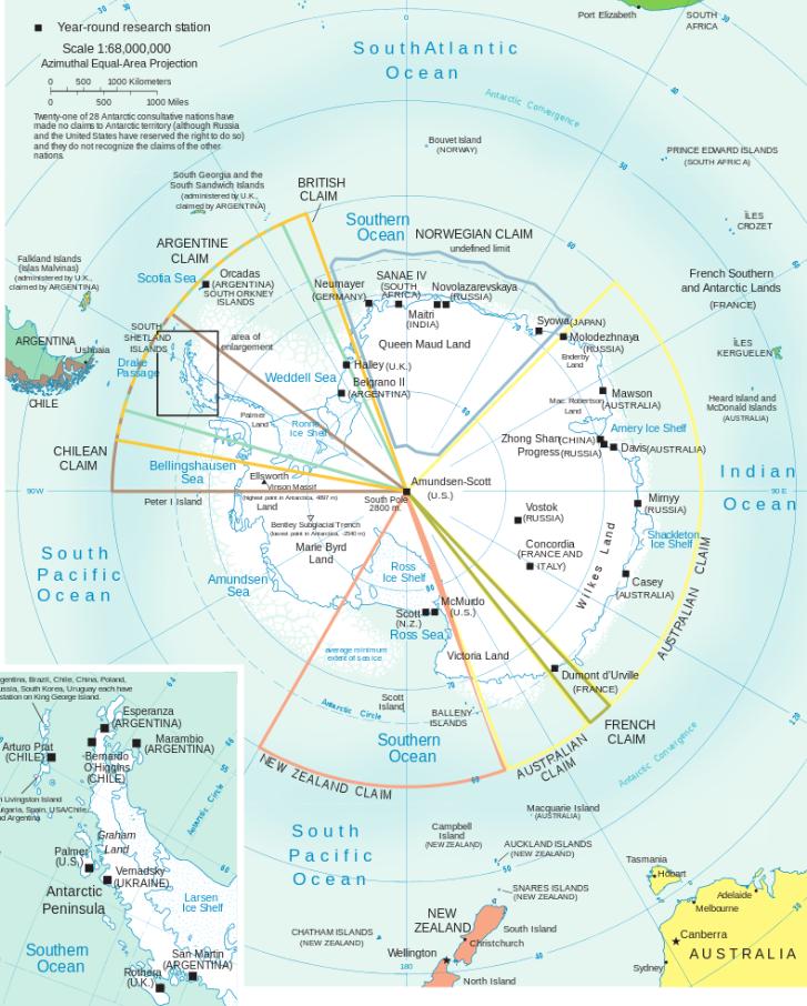 Договор об Антарктике зоны ответственности