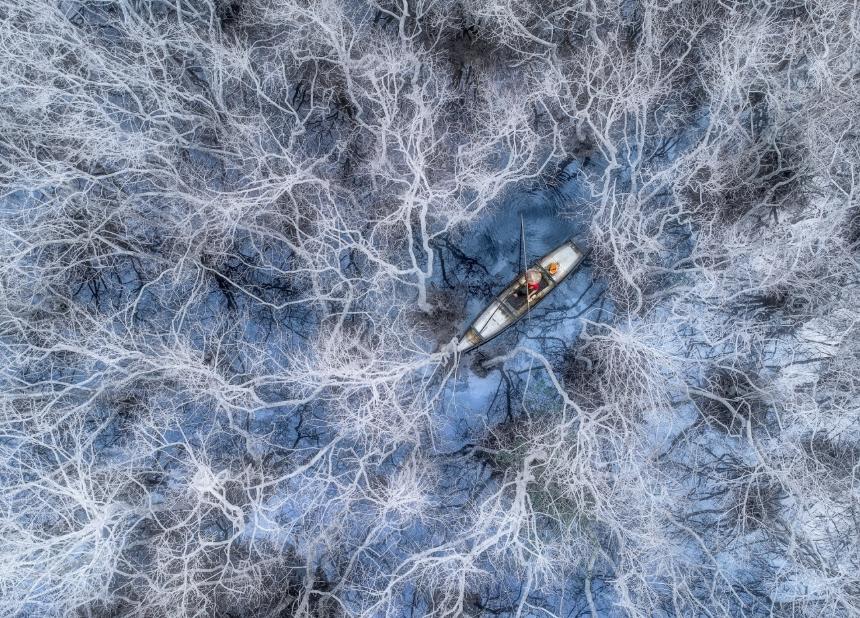фото лодки с дрона