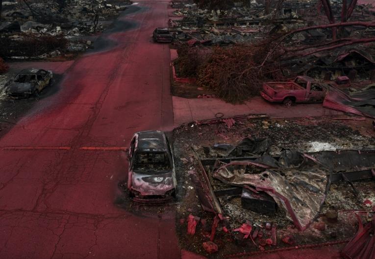 после пожара фото с дрона