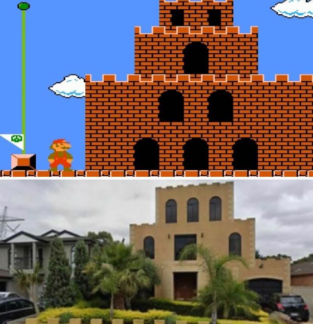 дом как замок из марио